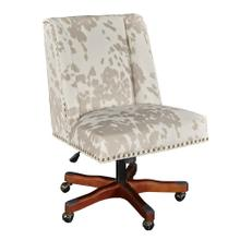 Upholstered Office Chair, Walnut