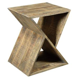 CRESTVIEW COLLECTIONSBengal Manor Mango Wood Angled End Table