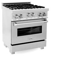 ZLINE 30 in. Professional 4.0 cu. ft. 4 Gas on Gas Range in DuraSnow® Stainless Steel (RGS-SN-30)