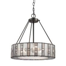 See Details - Ethan 3-Light Chandelier in Tiffany Bronze with Rippled / Art / Mercury Glass