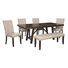 Dining Table and 4 Chairs and Bench