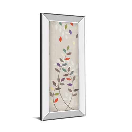 """Leaflets Il"" By Tandi Venter Mirror Framed Print Wall Art"