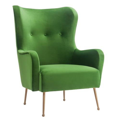 Ethan Green Velvet Chair