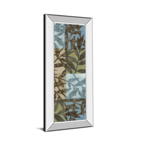 "Classy Art - ""Leaves I"" Mirror Framed Print Wall Art"