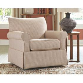 Almanza Swivel Glider Accent Chair Wheat