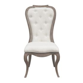 Ella Upholstered Back Side Chair 2pc in Gray