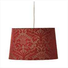 Ruby Brocade Hanging Pendent Lamp. 100W Max