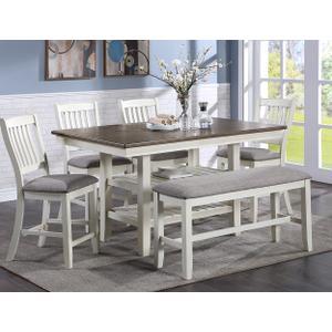 Jorie Counter Ht Table Chalk Grey