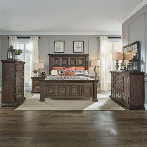 Gallery - King Panel Bed, Dresser & Mirror, Chest, Night Stand