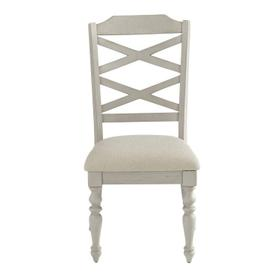 Larson Light 2-Pack Upholstered Side Chair, Distressed White