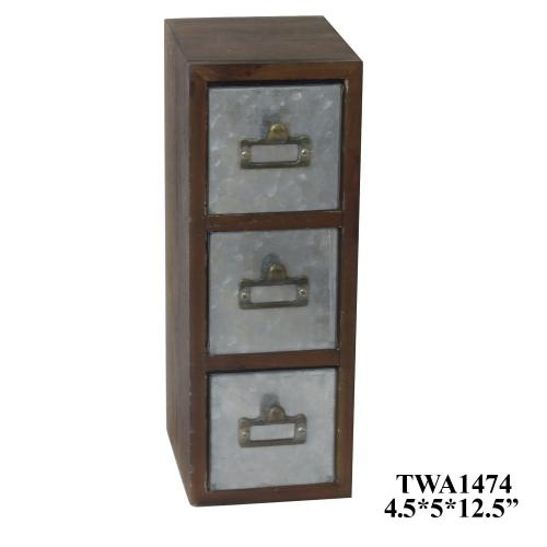 Crestview Collections - 3 Drawer Cabinet