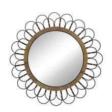 "See Details - 36"" Daisy Wall Mirror, Black"