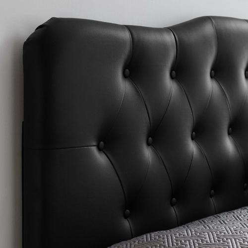 Modway - Annabel King Upholstered Vinyl Headboard in Black