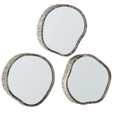 Wood Slice Mirror (3 pc. ppk.)