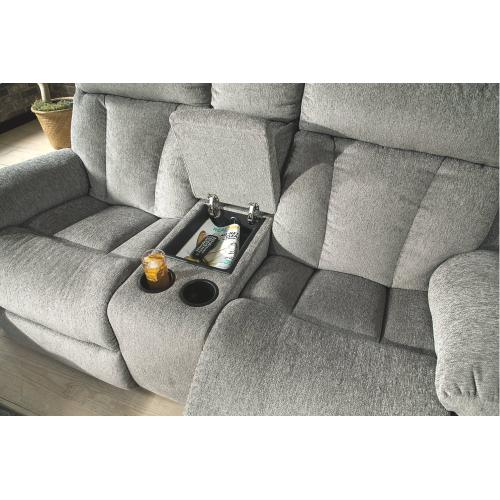 Signature Design By Ashley - Reclining Loveseat with Console
