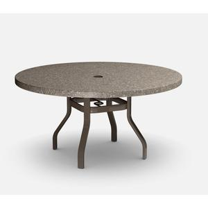 """54"""" Round Balcony Table (with Hole) Ht: 34.25"""" 37XX Universal Aluminum Base (Model # Includes Both Top & Base)"""