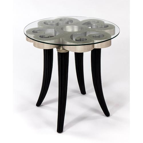 """Artmax - End Table with Glass 27x27x26"""""""
