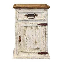 """See Details - Left Nightstand : 26"""" x 32"""" x 20"""" White Wash Collection"""