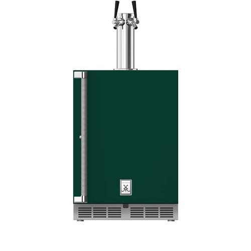 """Hestan - 24"""" Hestan Outdoor Double Faucet Beer Dispenser - GFDS Series - Grove"""