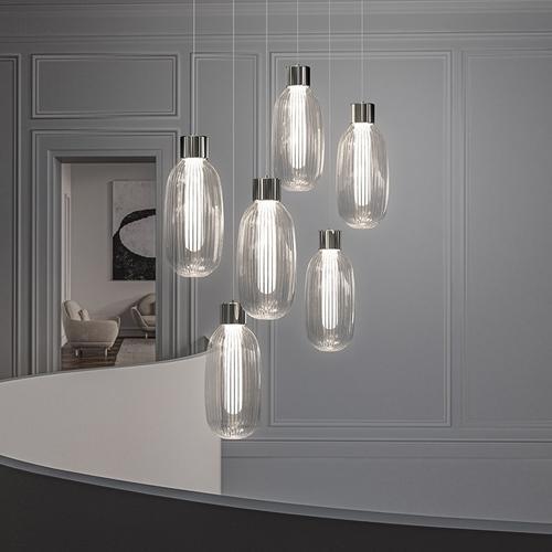 Sonneman - A Way of Light - Friso LED Pendant [Size=3-Light, Color/Finish=Polished Nickel]