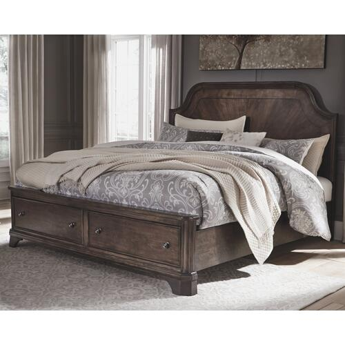 Adinton California King Panel Bed With 2 Storage Drawers