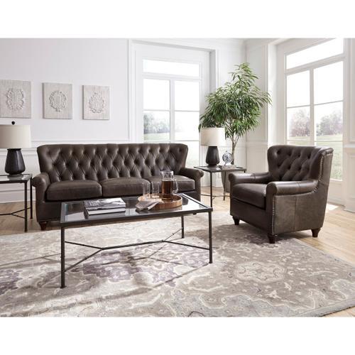 Pulaski Furniture - Charlie Tufted Leather Sofa in Heritage Brown
