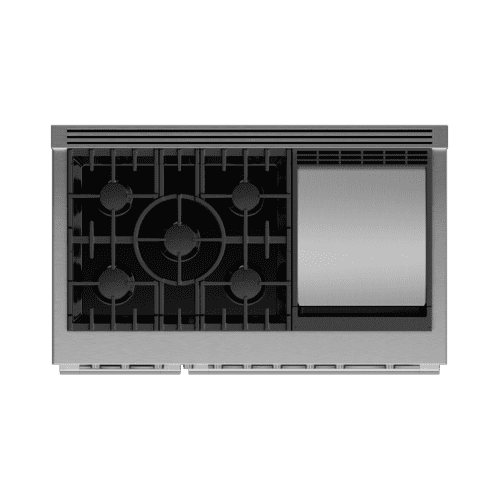 "Gas Range, 48"", 5 Burners with Griddle"