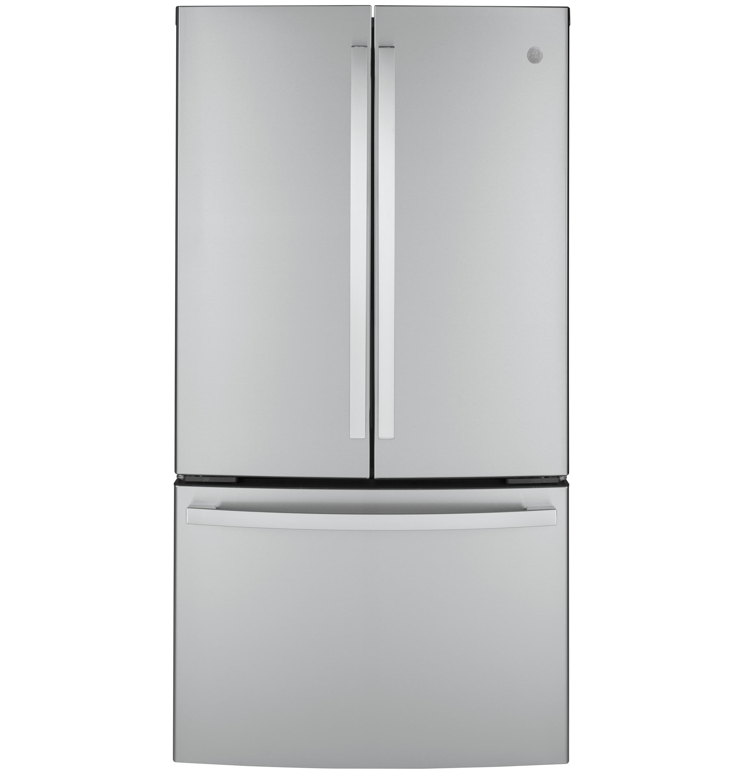 GEEnergy Star® 23.1 Cu. Ft. Counter-Depth Fingerprint Resistant French-Door Refrigerator