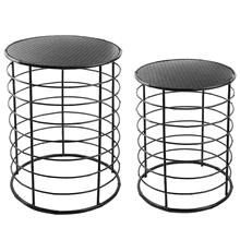 See Details - Round Black Nested Side Table (2 pc. set)