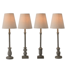 Pebble Grey Buffet Lamp. 40W Max. (4 pc. ppk.)