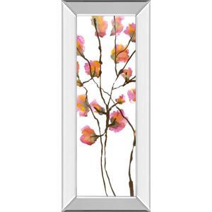 """Inky Blossoms I"" By Deborah Velasquez Mirror Framed Print Wall Art"