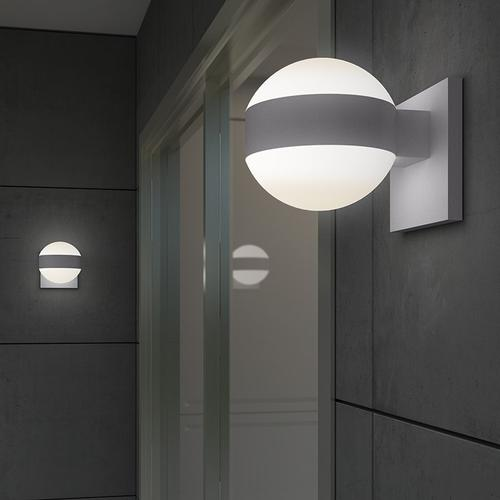 Sonneman - A Way of Light - REALS® Up/Down LED Sconce [Color/Finish=Textured White, Lens Type=Plate Lens and Clear Cylinder Lends]
