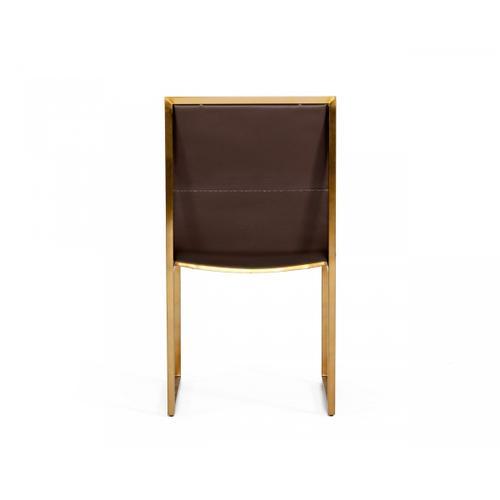 Modrest Dalton - Modern Brown Leatherette Dining Chair