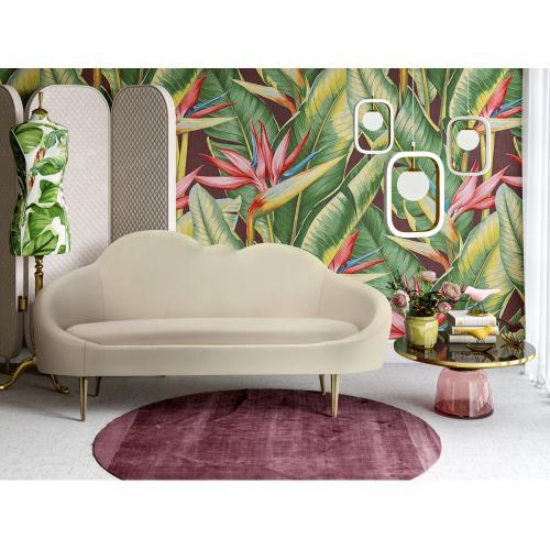 Tov Furniture - Cloud Cream Velvet Setee
