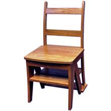 Product Image - Original SUNHEAT Made in USA Benjamin Franklin Step Ladder Chair - Oak