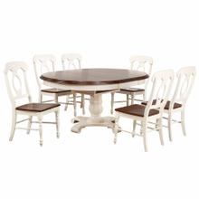 See Details - Butterfly Leaf Dining Set w/Napoleon Chairs (7 Piece)