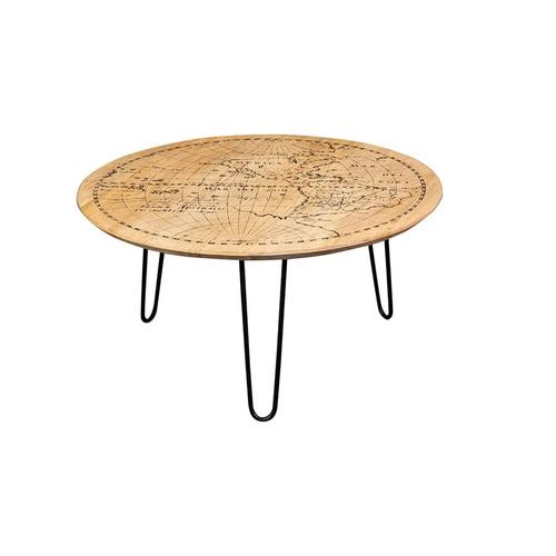 World Map Coffee Table, 1901-151A
