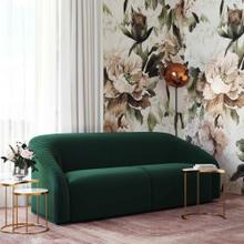 View Product - Yara Pleated Forest Green Velvet Sofa