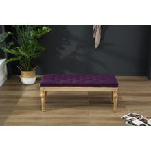 Habit Solid Wood Purple Button Tufted Dining Bench