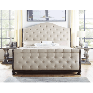 Rhapsody Sleigh 4-Piece King Set (King Bed/DR/MR/NS)