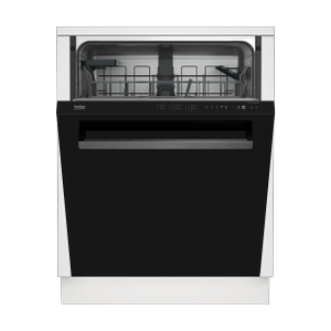 BekoTall Tub Black Dishwasher, 14 place settings, 48 dBa, Top Control