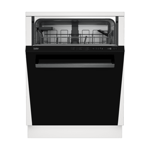 Tall Tub Black Dishwasher, 14 place settings, 48 dBa, Top Control