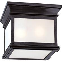 Visual Comfort CHC4128BZ-FG E. F. Chapman Club 3 Light 9 inch Bronze Flush Mount Ceiling Light in Frosted Glass