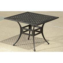 "Weave Injection 40"" Square Dining Table w/Umb hole"