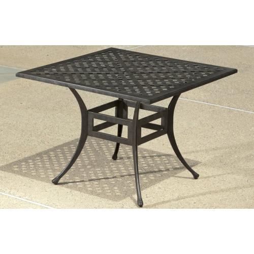 """Weave Injection 40"""" Square Dining Table w/Umb hole"""
