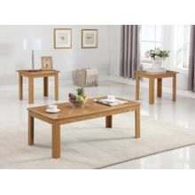 3PC OAK PARQUET COFFEE & END SET