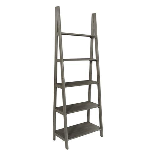Hillsboro Ladder Bookcase In Grey Washed Finish