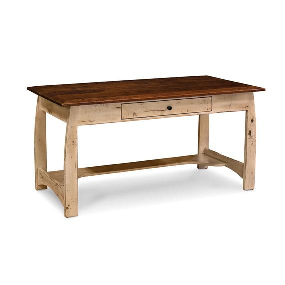 """Aspen Writing Desk with Inlay, 60""""w, Character Cherry, Olde World, 2-Tone Option, Top: #32-A1, Rest: #38-A1"""