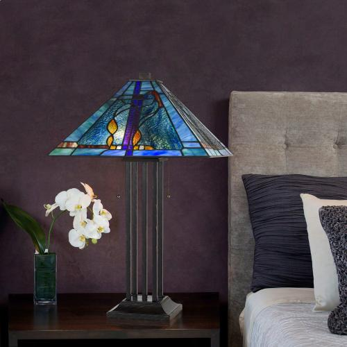 Cal Lighting & Accessories - 60W X 2 Tiffany Table Lamp