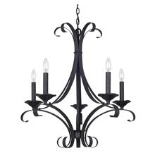 60W X 5 Austin Hand Forged Iron 5 Light Chandelier